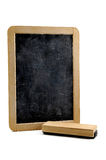 Vertical blackboard. On a white background Royalty Free Stock Images
