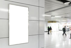 Vertical blank billboard Stock Photos