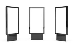 Vertical Blank Billboards Stock Images