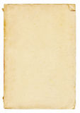 Vertical blank old vintage paper Stock Photography
