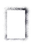 Vertical blank stencil frame Stock Image
