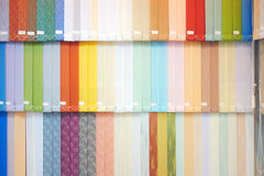 Vertical blinds. Background from multi-colored vertical blinds Stock Photo