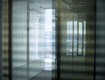 Office blinds. Vertical blinds in new one business office stock images