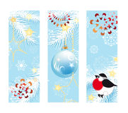 Vertical blue Christmas banners Stock Image