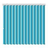 Vertical blue jalousie icon, realistic style stock illustration