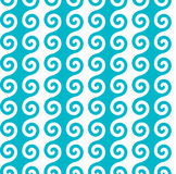 Vertical blue spiral wave pattern. Seamless vector pattern. Stock Images