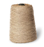 Vertical bobbin of old dirty thread beige Royalty Free Stock Photography