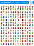 Vertical Bookmark Flag Icons - All World Vector. Illustration Stock Image