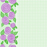 Vertical Border With Roses Stock Images
