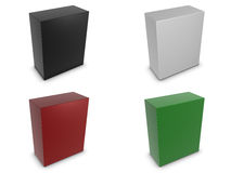 Vertical boxes in different colors Stock Photo