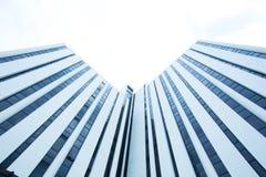 Vertical branco da construção Fotografia de Stock