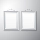 Vertical branco das molduras para retrato Fotos de Stock Royalty Free