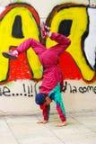 Vertical breakdance Stock Image