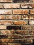 Vertical brick wall stock image