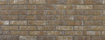 Vertical Brick wall panorama Stock Photography