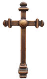 Vertical bronze brown cross Royalty Free Stock Image