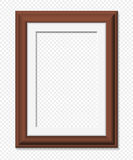 Vertical brown frame, vector illustration. Vertical rectangular brown frame, realistic vector illustration Royalty Free Stock Photo