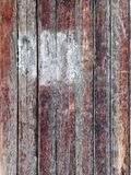 Vertical brown wood plank wall texture background Stock Photos