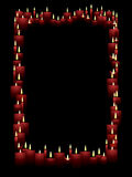 Vertical candle frame Stock Images