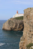 Vertical of Cape St . Vincent Lighthouse in Portugal Stock Images
