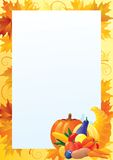 Vertical card for thanksgiving Royalty Free Stock Image