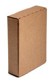 Vertical cardboard box Royalty Free Stock Images