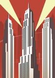Vertical cartoon city Stock Photography