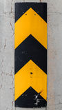 Vertical caution striped yellow and black sign Royalty Free Stock Images