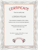 Vertical Certificate template Royalty Free Stock Photos
