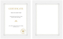 Vertical certificate template Stock Images