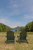 Vertical Chairs Scenery royalty free stock images