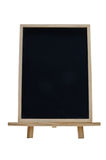 Vertical Chalkboard. A bertical chalkboard with a wooden frame and stand Royalty Free Stock Photo