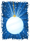 Vertical christmas background blue Royalty Free Stock Photos
