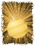 Vertical christmas background gold Royalty Free Stock Photos