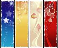 Vertical christmas banners Stock Image