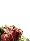 Vertical christmas presents Royalty Free Stock Image