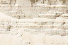Vertical ściana piasek w piaska jamie Obraz Royalty Free