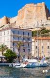 Vertical cityscape of Bonifacio, Corsica island Stock Photography