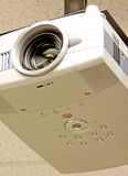 Vertical classroom projector. Vertical close-up of a ceiling mounted classroom projector Stock Images