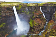 Vertical cliff  in Iceland Stock Image