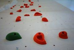 Vertical climbing wall Royalty Free Stock Image