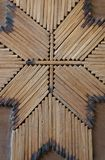 Vertical close up of hand crafted match stick art. Stock Images