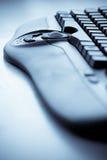 Vertical closeup keyboard Stock Photo