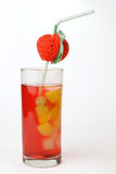 Vertical cocktail. Unusual vertical cocktail whith fruits Stock Photos