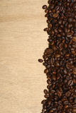 Vertical coffee beans Royalty Free Stock Image
