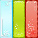 Vertical color banners. Stock Photos