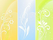 Vertical color floral banners. Royalty Free Stock Photos