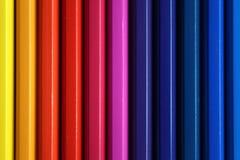 Vertical color pencils gradient spectrum texture Stock Photos