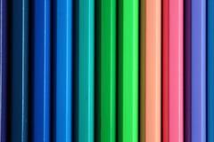 Vertical color pencils gradient spectrum texture Royalty Free Stock Photos