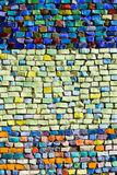 Vertical colorful mosaic texture on wall. Vertical colorful mosaic texture on the wall Stock Photos